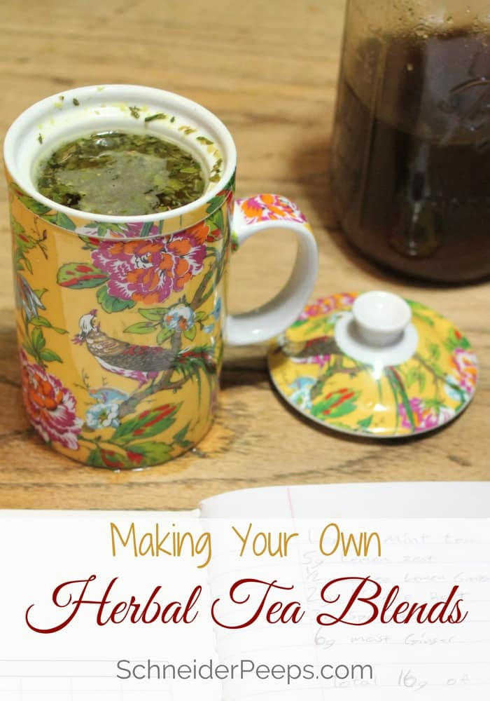 Herbal tea blends | Schneiderpeeps.com Making your own herbal tea blends is easy and much more cost effective than buying premade blends. Learn how to make DIY tea blends using traditional methods.