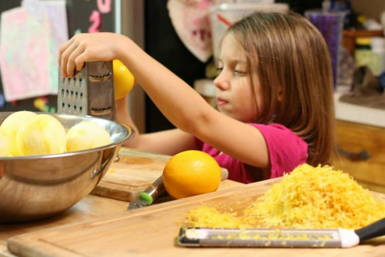 raise capable children by letting them help in the kitchen
