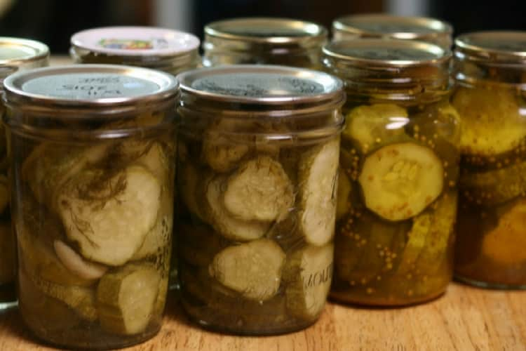 home canned pickles to reduce grocery budget
