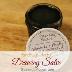 Black drawing salve is great to use on thorns, splinters, blemishes, and even frost bitten roster combs. Learn how to make this simple and effective diy herbal remedy in your own kitchen.