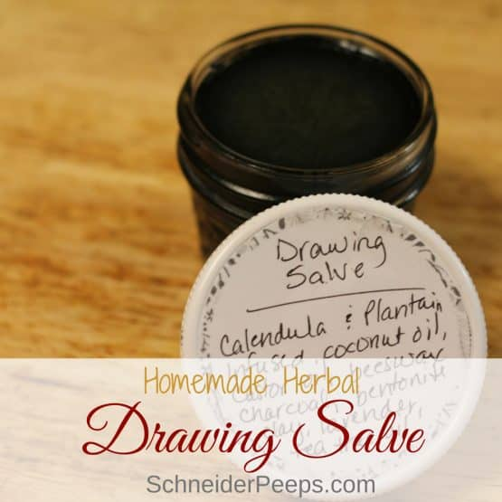 How to make a drawing salve for thorns, splinters, and other working outside hazards