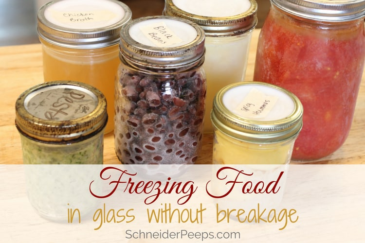 photo of freezing food in glass jars