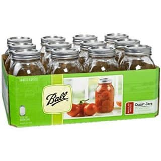 Ball Regular Mouth Quart 12 Pieces Jars (32oz) Made in USA