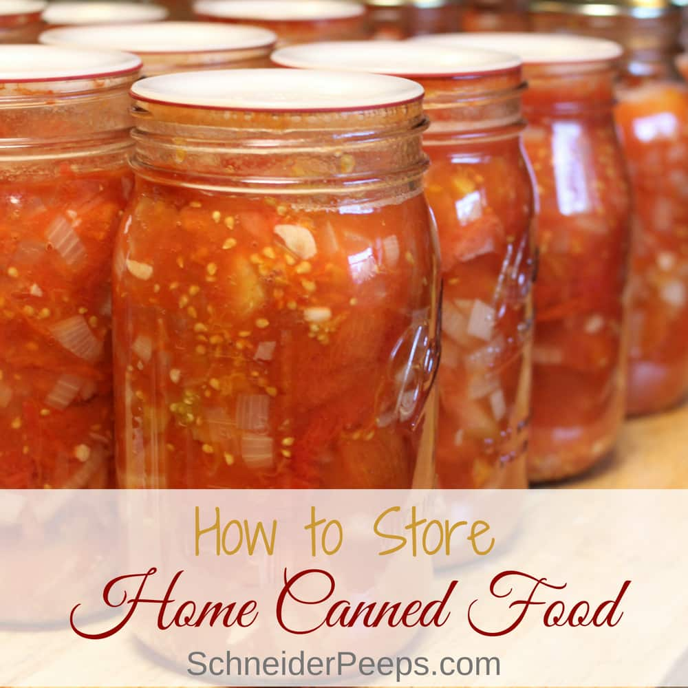 Filling your pantry with home canned food is a great (and frugal) way to feed your family all year long. However, storing home canned food in glass mason jars takes a bit more consideration than storing store bought food.