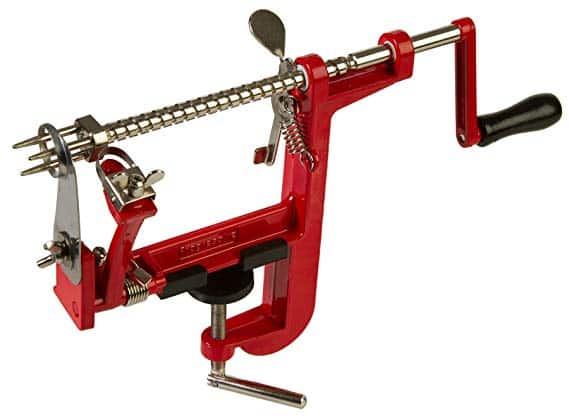 Prepworks by Progressive Apple Peeler and Corer Machine, Heavy Duty Corer Remover, Pear Slicer, Mountable on Counter or Tabletop Apple Machine