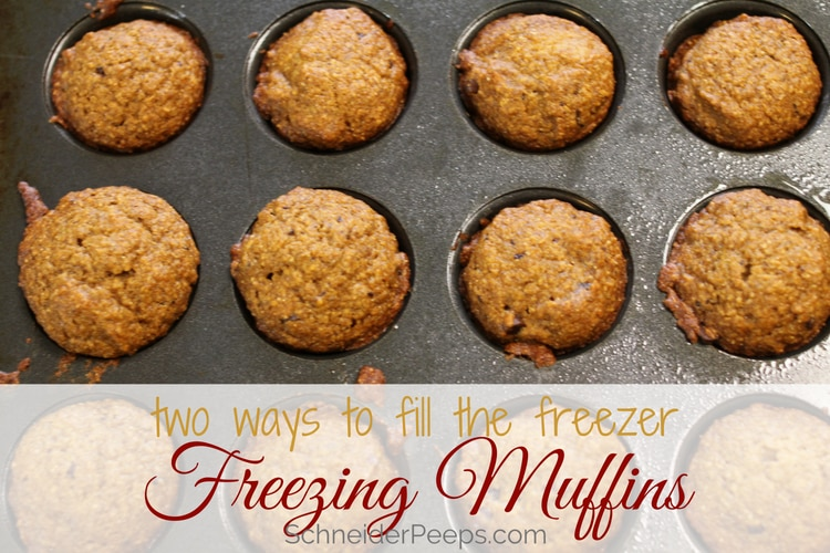 image of pumpkin muffins for freezing