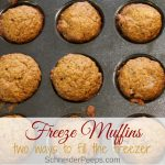 Freezing muffins is a great way to keep healthy snacks and breakfasts ready to go. There are two ways to freeze muffins and both are super easy - so start freezing muffins to fill your freezer today.