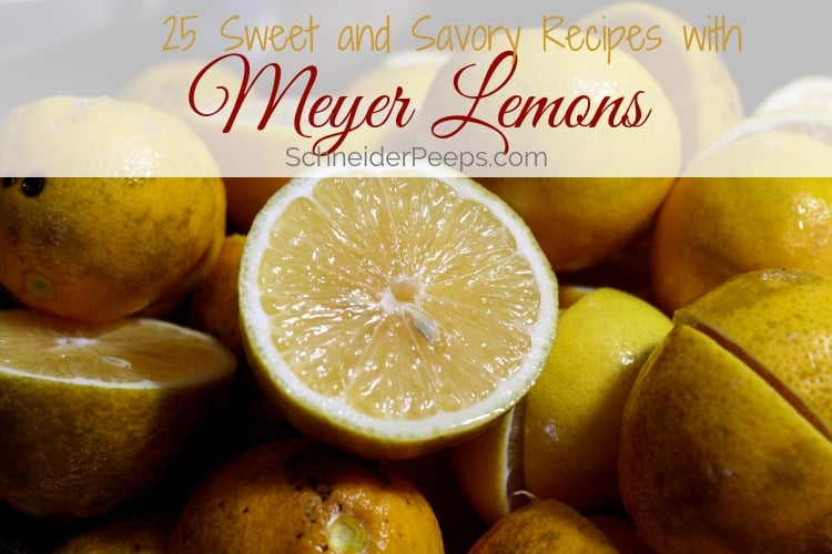 image of pile of meyer lemons with one cut open