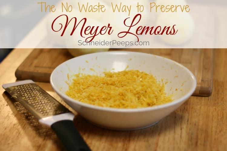 image of bowl of meyer lemon zest