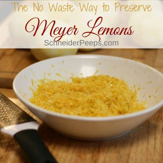 Preserving Meyer Lemons (and other citrus) in a Zero Waste Way