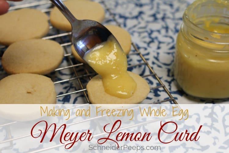 image of Meyer lemon curd on shortbread cookies