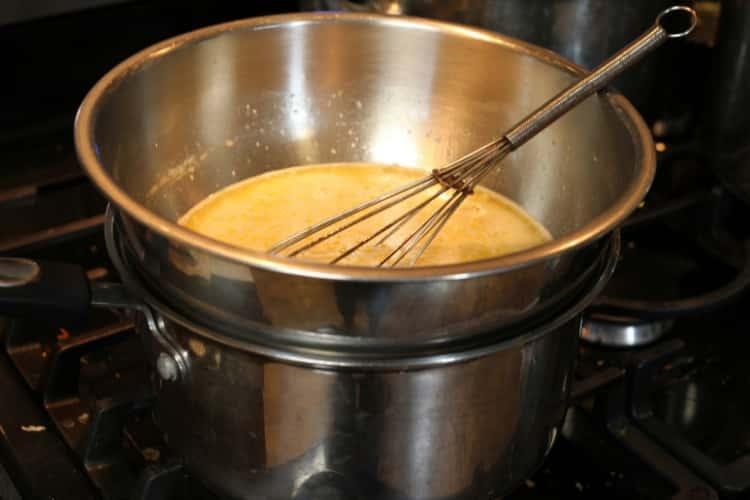 image of cooking Meyer lemon curd