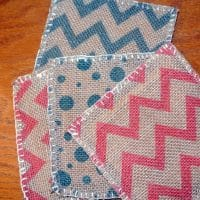 Quick and Easy Burlap Coasters
