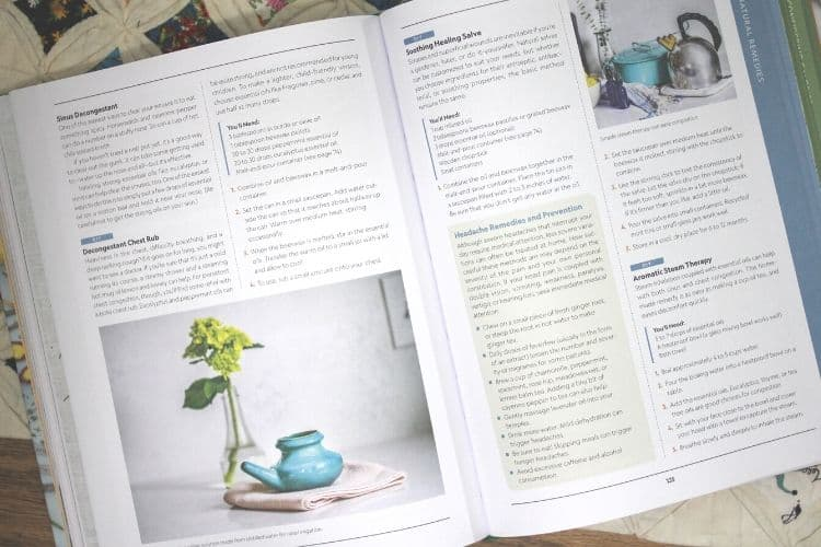 image of the book Attainable Sustainable open on the table