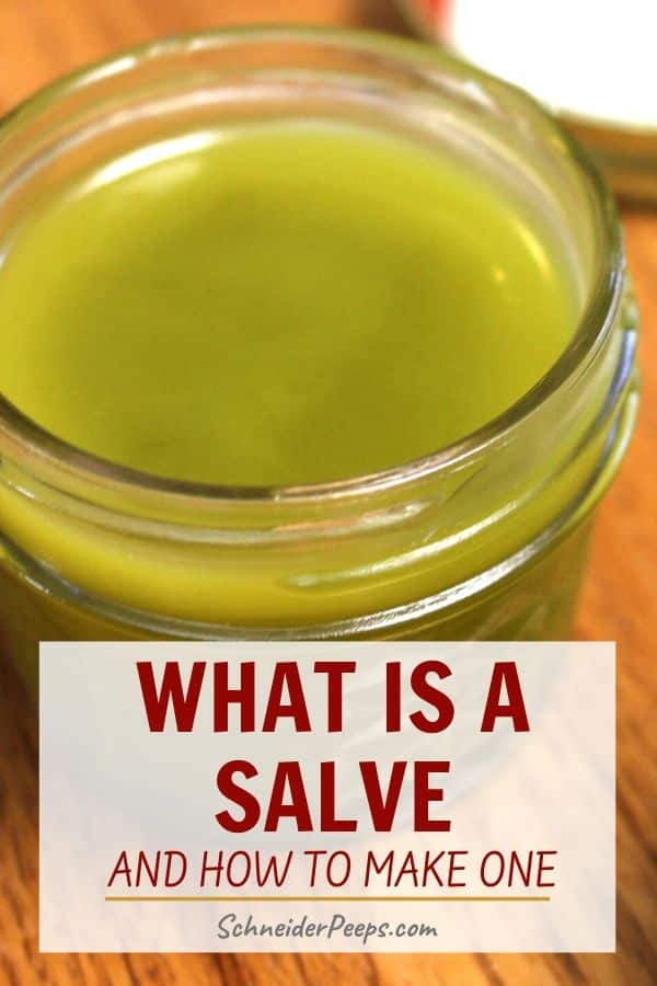 image of herbal salve in glass mason jar on wooden table