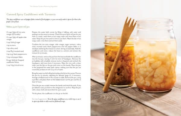 photo and recipe for pickled cauliflower in The Ultimate Guide to Preserving Vegetables
