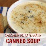 bowl of creamy potato and sausage soup