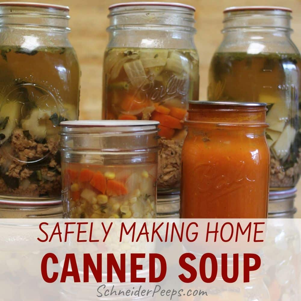 home canned soups in mason jars