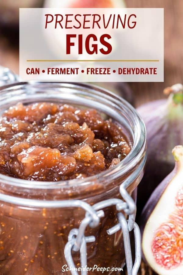 fig preserves in canning jar